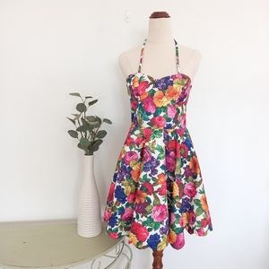 Paint It Red Floral Dress Size Small Fit & Flare